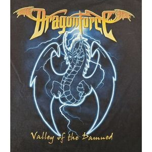 Dragonforce Valley of the Damned Black Tshirt